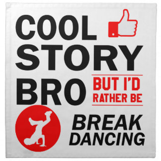 Cool break dancing designs napkin