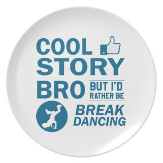 Cool break dancing designs party plates