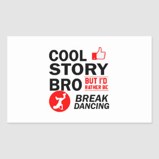 Cool break dancing designs sticker