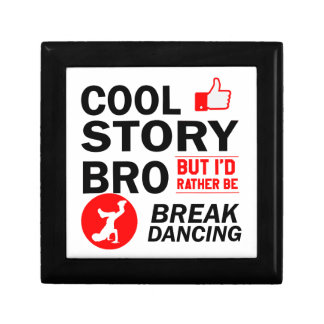 Cool break dancing designs trinket box
