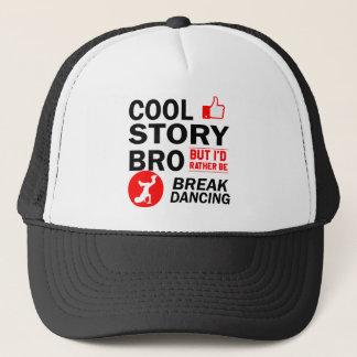 Cool break dancing designs trucker hat