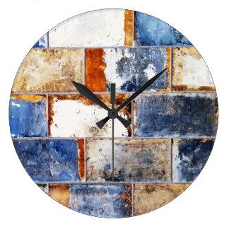 Cool Brick Wall Pattern Clock