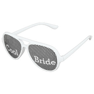 Cool Bride Wedding Party Dark Shades Party Shades