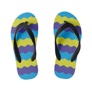 Cool Bright Abstract Waves Kid's Flip Flops