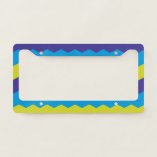 Cool Bright Abstract Waves License Plate Frame