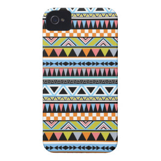Cool Bright aztec Andes Pattern iPhone 4 Case
