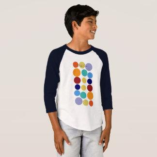 Cool Bright Polka Dots Kids  Baseball T-shirt