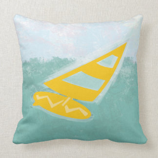 Cool Bright Watercolor Gone  Surfing Pillow