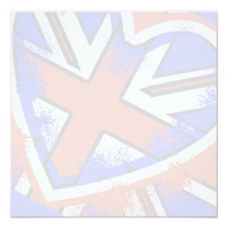 Cool British Flag Heart Design Card