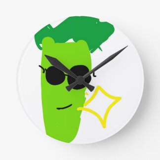 Cool Broccoli Round Clock