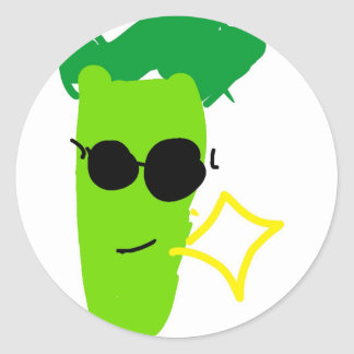 Cool Broccoli Round Sticker