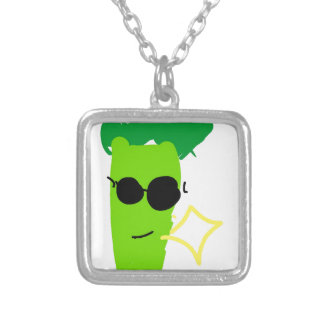 Cool Broccoli Silver Plated Necklace
