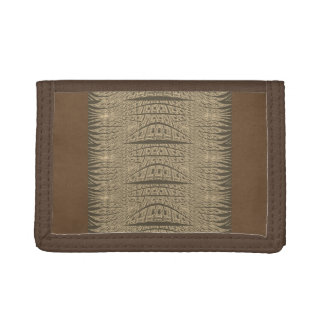 Cool Brown Abstract Art Wallet for men or women
