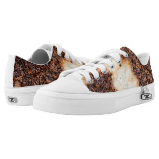 Cool brown rusty metal texture Low-Top sneakers