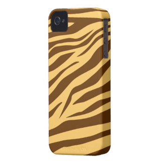 Cool Brown/Tan Zebra Print - iPhone 4/4s Case