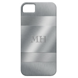 Cool Brushed Metal Look Initials iPhone 5 Cover