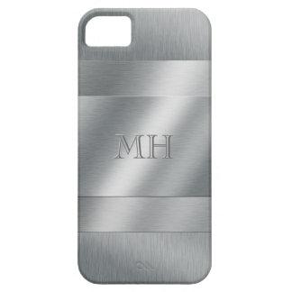 Cool Brushed Metal Look Monogram iPhone 5 Covers