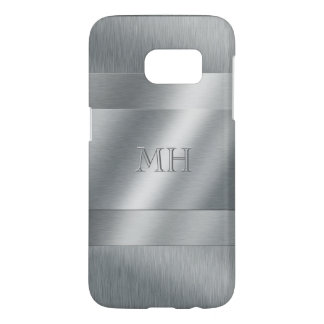 Cool Brushed Metal Look Monogram Samsung Galaxy S7 Case