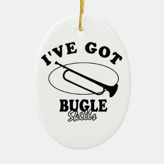 Cool Bugle musical instrument designs Ceramic Ornament