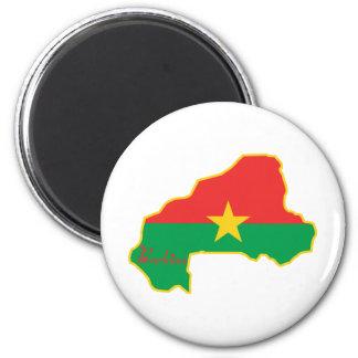 Cool Burkina Faso 2 Inch Round Magnet