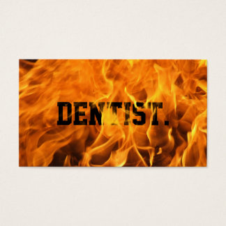 Cool Burning Fire Dentist Business Card