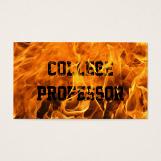 Cool Burning Fire Professor Business Card