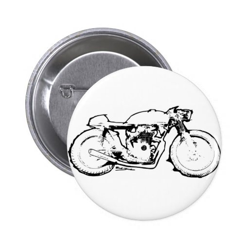 Cool Cafe Racer Motorcycle Drawing Pin