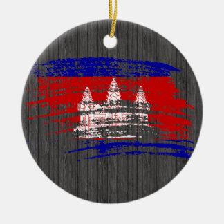 Cool Cambodian flag design Ceramic Ornament