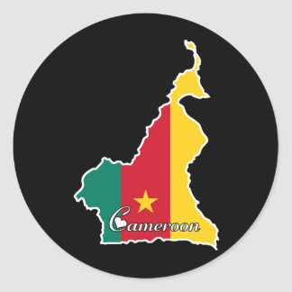 Cool Cameroon Classic Round Sticker