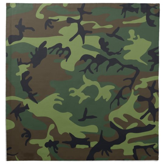 cool camouflage image effect cloth napkin