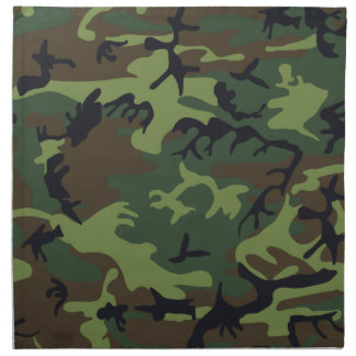 cool camouflage image effect napkin