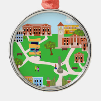 Cool Campus Design Metal Ornament