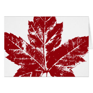 Cool Canada Card Canadian Flag Greeting Card