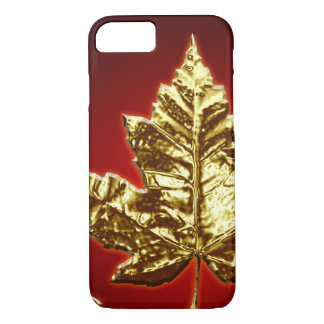 Cool Canada iPhone 7 Case Gold Canada Leaf Gifts