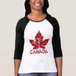 Cool Canada Jersey  Retro Maple Leaf Souvenir T-shirt