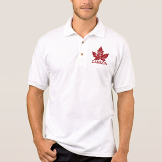 Cool Canada Polo Shirt Retro Maple Leaf Souvenir