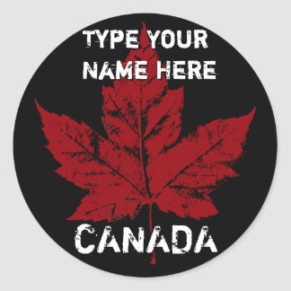 Cool Canada Stickers Personalized Canada Sticker