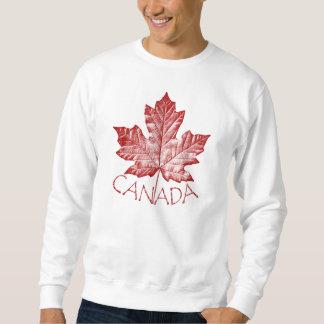 Cool Canada Sweatshirt Retro Maple Leaf Souvenir