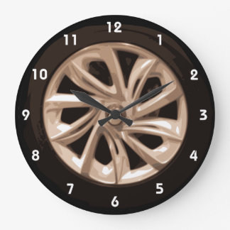 Cool Car Wheel hubcap wall clock with numbers