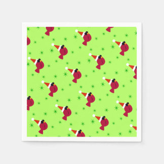 Cool Cardinal Christmas Party Cocktail Napkins Disposable Napkin