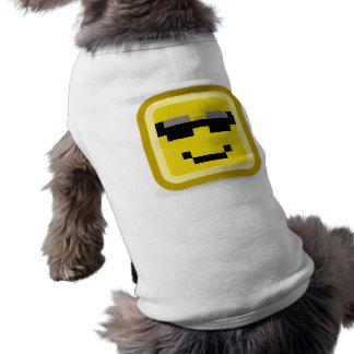 (cool carré de smiley tee-shirt pour chien