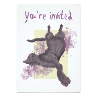 Cool Cartoon Cat Birthday Invites