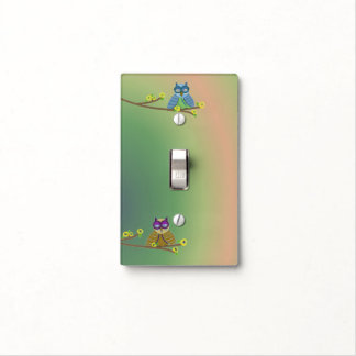 Cool Cartoon Owls Light Switch Cover