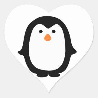 Cool Cartoon Penguin Stickers. Heart Sticker