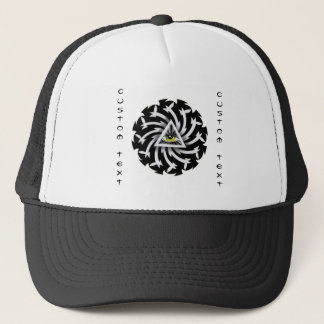 Cool cartoon tattoo symbol Third Eye Wisdom Trucker Hat