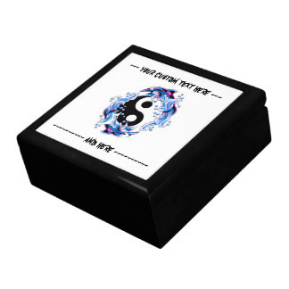 Cool cartoon tattoo symbol Yin Yang Dolphins Gift Box