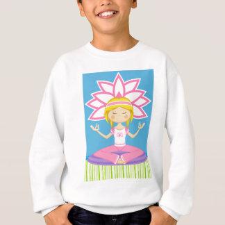 Cool Cartoon Yoga Girl Sweatshirt