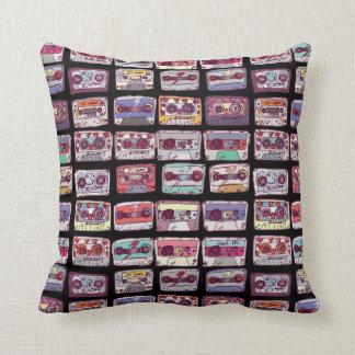 cool cassette throw pillow