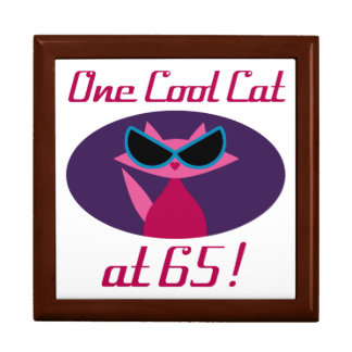 Cool Cat 65th Birthday Gift Box