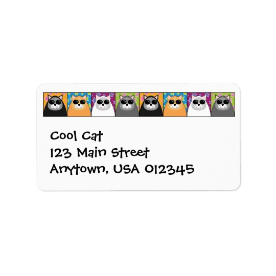 Cool Cat Address Avery Label